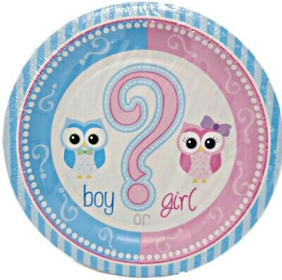 Gender Reveal 7-inch Dessert Paper Plates - 8 ct (Halloween Gender Reveals)
