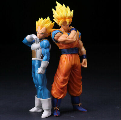 "Dragon Ball Z 9"" Super SaiYan Goku & Vegeta PVC Figure Toy Xmas Gift With BOX"