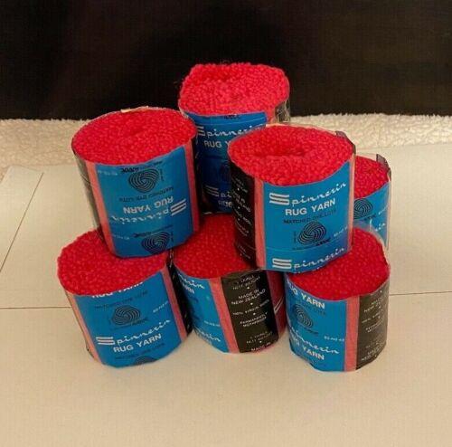 9 Pkgs.- Spinnerin Latch Hook Rug Yarn - Hot Pink #6847