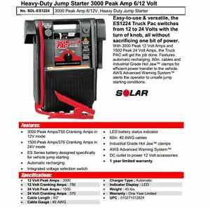 Truck PAC ES1224 12 volt and 24 volt battery booster London Ontario image 2