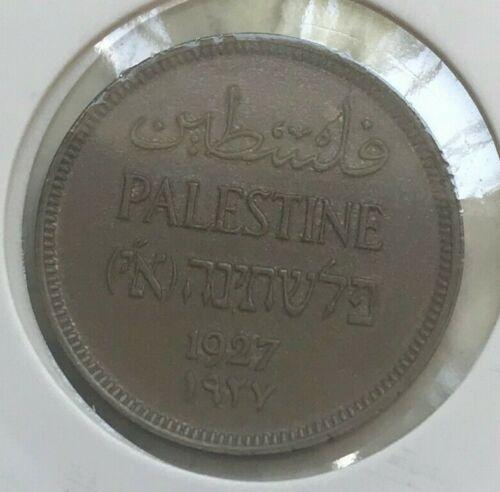 1927 Palestine 1 One Mil - Uncirculated Copper