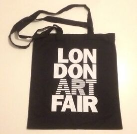 London Art Fair coth/tote bag (bag for life), black with words/logos on both sides
