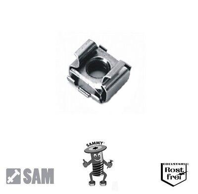 10 Käfigmuttern Edelstahl A2 M5 (2,6-3,5mm) für Loch 8,3 - cage nuts ()