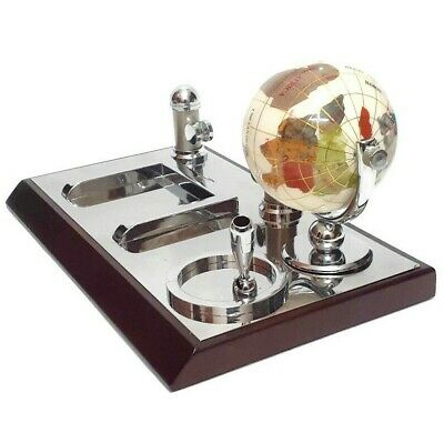 Nice Vintage Creative Pen Holder Earth Globe Organizer Desktop Accessories