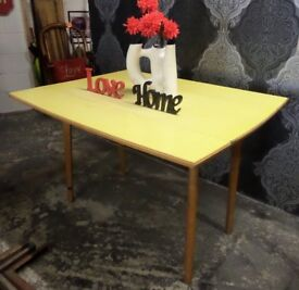 Beautiful Formic Drop leaf Dining Table Yellow - UK Delivery