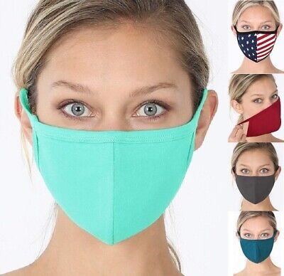 Unisex Soft Cotton Face Mask Double Layer Cover Bandanna Machine Washable Animal