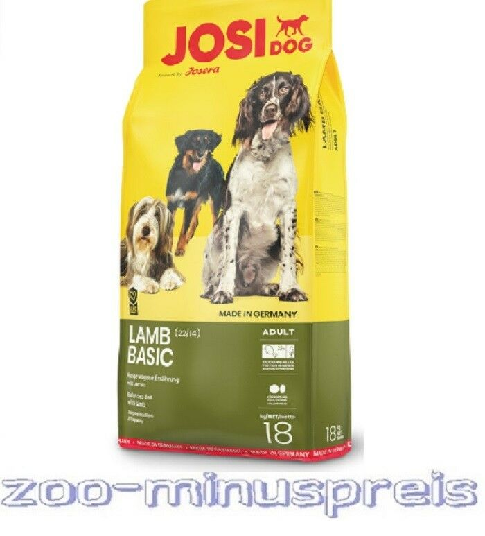 JosiDog LAMM BASIC 18 kg, bietet eine ausgewogene Ernährung mit Lamm, f.ausgew.