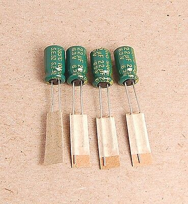 20pcs -- 22uf 63v Radial Electrolytic Capacitors 63v22uf Sanyo Japan