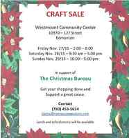 Craft Sale - tables available