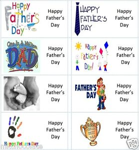 40 x Happy Fathers Day labels/stickers cakes/sweets/gift bags/presents