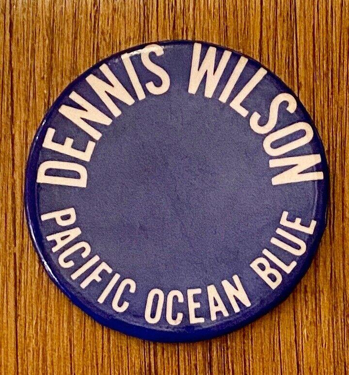 DENNIS WILSON Pacific Ocean Blue 1977 US Promo BUTTON Beach Boys VG+