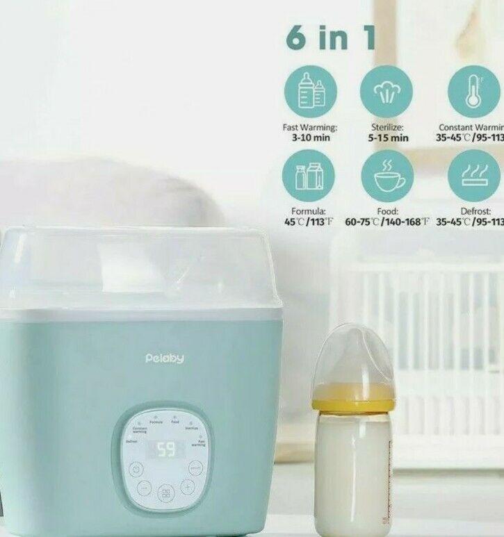 Baby Bottle Warmer Bottle Sterill-zer, Pelaby 6-in-1 BPA-Free Baby Food Heater w