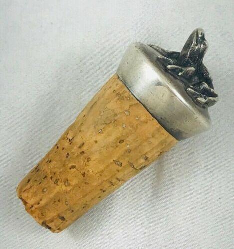 Vintage Figural Frog Sterling Wine Cork