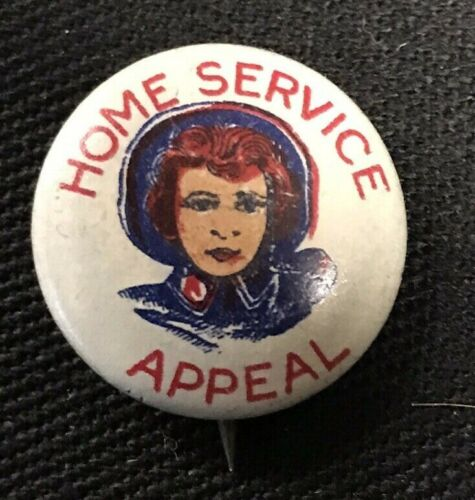 "Home Service Appeal Salvation Army 1917 WWI Pinback Button 3/4"" JW017"