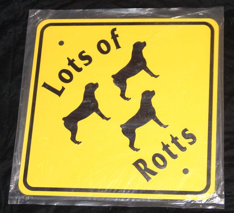 Rottweiler themed metal signs - Indoor/Outdoor - benefits Rottie Rescue!