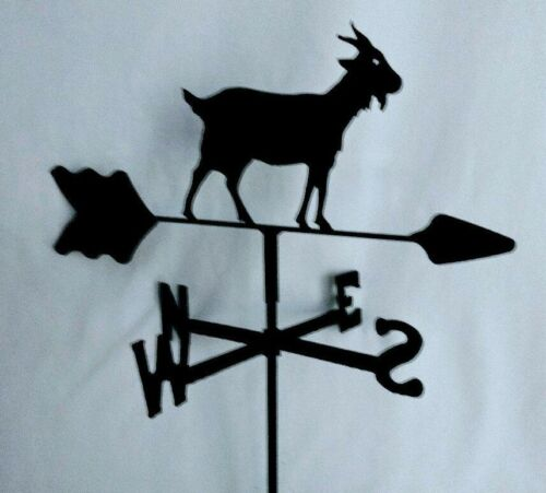 Goat Garden Style Weathervane Black Wrought Iron Look Made in USA