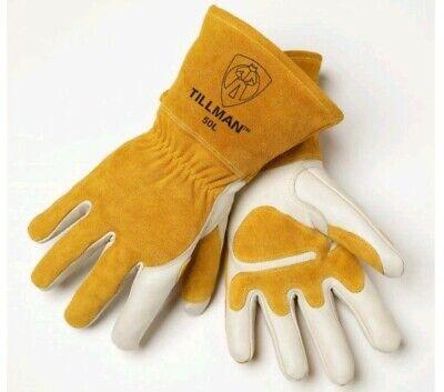 Lot 16 Pair Tillman 50l Top Grain Cowhide Mig Welding Gloves Size Large New