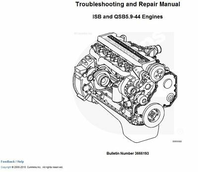 BEST CUMMINS ISB QSB5.9-44 3666193 DIESEL ENGINE  Shop Service Repair Manual (Best Cummins Diesel Engine)
