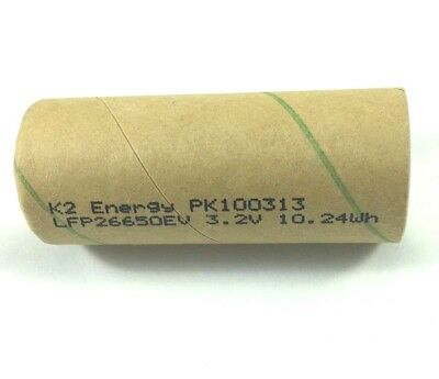 K2 Energy Pk091222 Lfp26650ev 3 2V 10 24Wh Lifepo4 Battery Cell