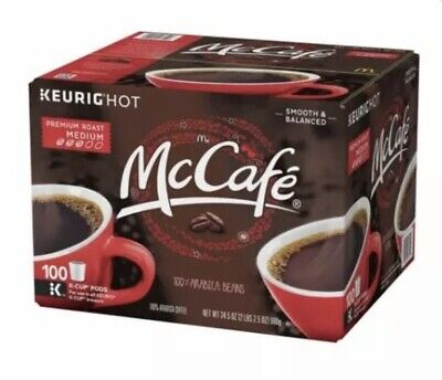 100 McCafe Premium Roast Coffee K Cups (100 count) EXP 5/21 FREE SHIPPING