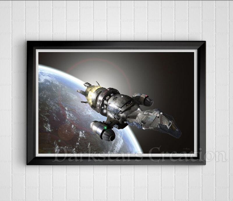 Firefly Leaving Earth - Limited Edition Serenity Art Print - Darkstars Creation