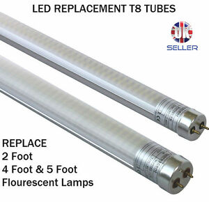 2 foot 60cm 9 watt t8 led replacement tube daylight ebay. Black Bedroom Furniture Sets. Home Design Ideas