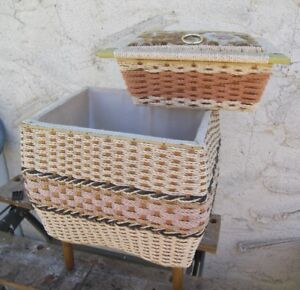 Sewing Basket With Insert Lift Out Compartment