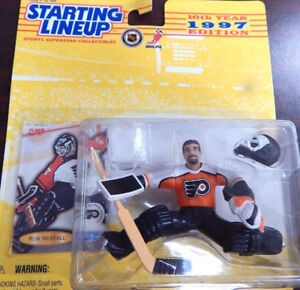 1997 Starting Lineup NHL Ron Hextall figurine and hockey card