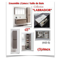 "(442-5)  Ensemble 48""/Salle de Bain /Collection ""LABRADOR""  785$"