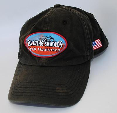 BLAZING SADDLES SAN FRANCISCO Dad Hat Baseball Cap Bike Rentals & Tours One Size for sale  Buellton
