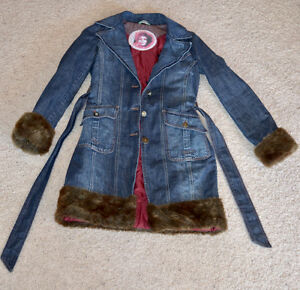 Ladies Denim Coat with Faux Fur Trim Edmonton Edmonton Area image 3