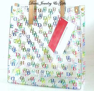Dooney & Bourke DB Logo Clear IT Lunch Tote Hand Bag Purse Transparent Multi NWT