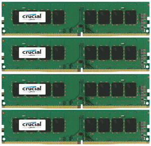 16GB mémoire ddr4 crucial 2400 MHZ pour ordi de bureau (neuf)