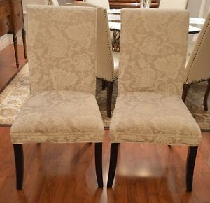 Set of Two Pier 1 Upholstered Dining Side Chairs Like New