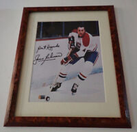 Jean Beliveau Montreal Canadiens Framed Photo Auto Signed COA