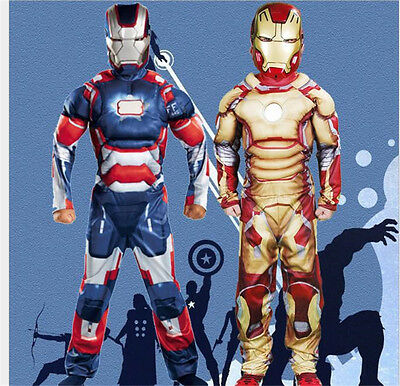 Superhero Iron-man Cosplay Costume Mask For Kid Children Anime Show Suit Clothes - Iron Man Suit For Children