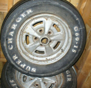 wheels and front clip cover off of a 1979 Firebird