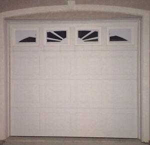 9' garage door with windows