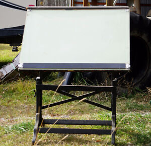 1930's antique drafting table