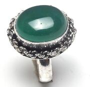 Green Onyx Sterling Silver Ring