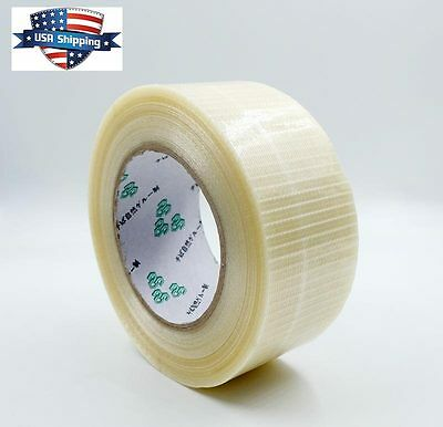 Double Bond Bi-directional Fiberglass Filament Strapping Tape 2in X 55yds 5.9mil