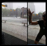2015: photosmashing my hail storm video at 17th