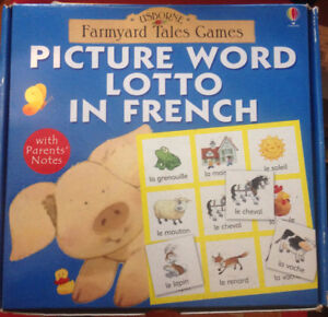 Jeu de mots francophone / Picture Word lotto in French