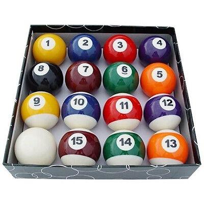 Complete Set Of 16 Miniature Mini Pool Billiard Balls Diameter Snooker Balls KK