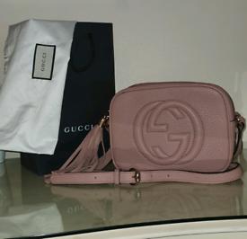 Gucci Soho blush pink disco bag