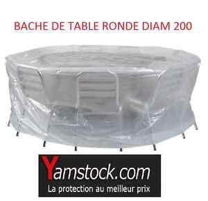 Bache de protection pour table chaises ronde ebay - Bache protection table exterieure ...