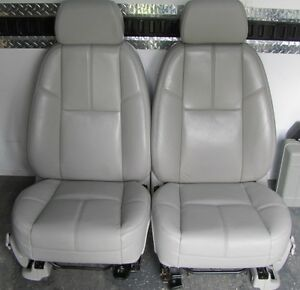 chevy silverado grey leather bucket seats gmc sierra yukon tahoe