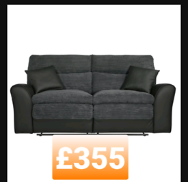 3 seater fabric recliner.