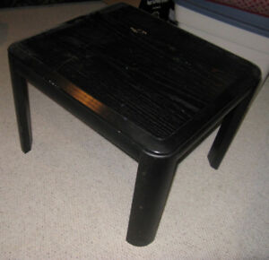 Twin Black Wood End Tables
