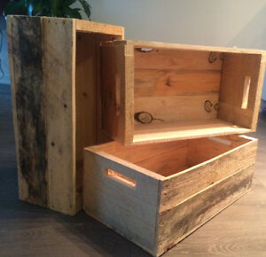 Authentic Wooden Crates !